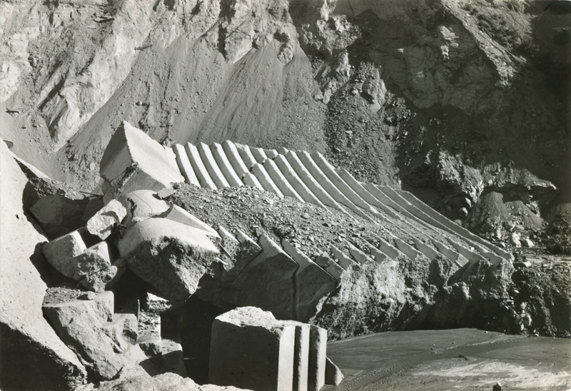 2 Inspectors Climb Block 5. EX-SAN FRANCISCO PUBLIC UTILITIES COMMISSION ARCHIVES. Photos of the St. Francis Dam disaster.