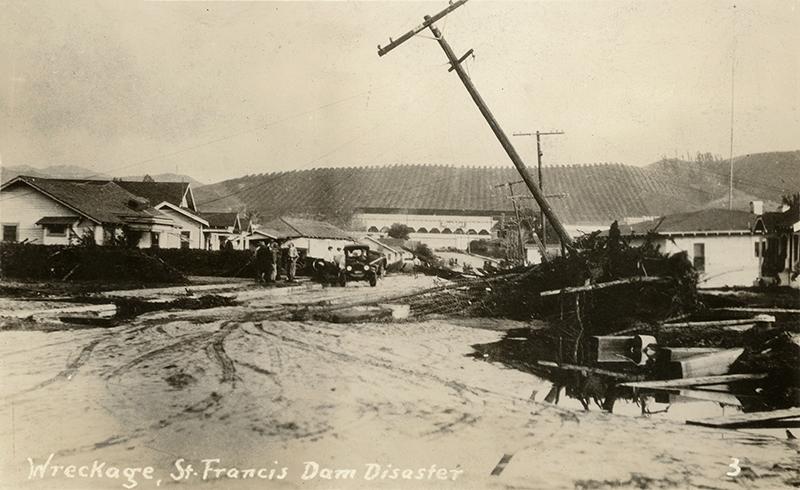 Santa Paula Flood Damage ST. FRANCIS DAM DISASTER