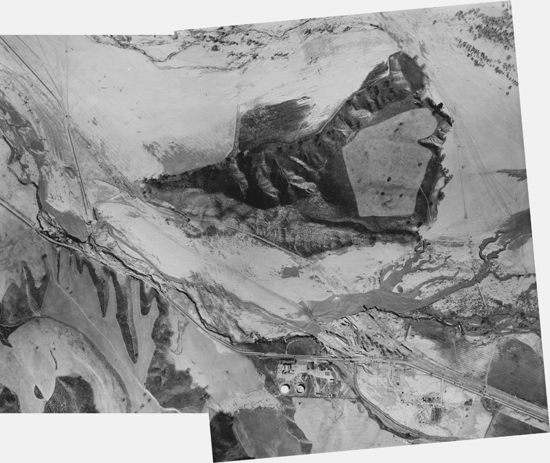 Aerial View of Flood Path (Composite)  CASTAIC JUNCTION | ST. FRANCIS DAM DISASTER