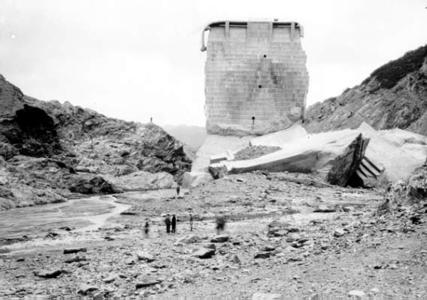 South Face. Photos of the St. Francis Dam disaster.