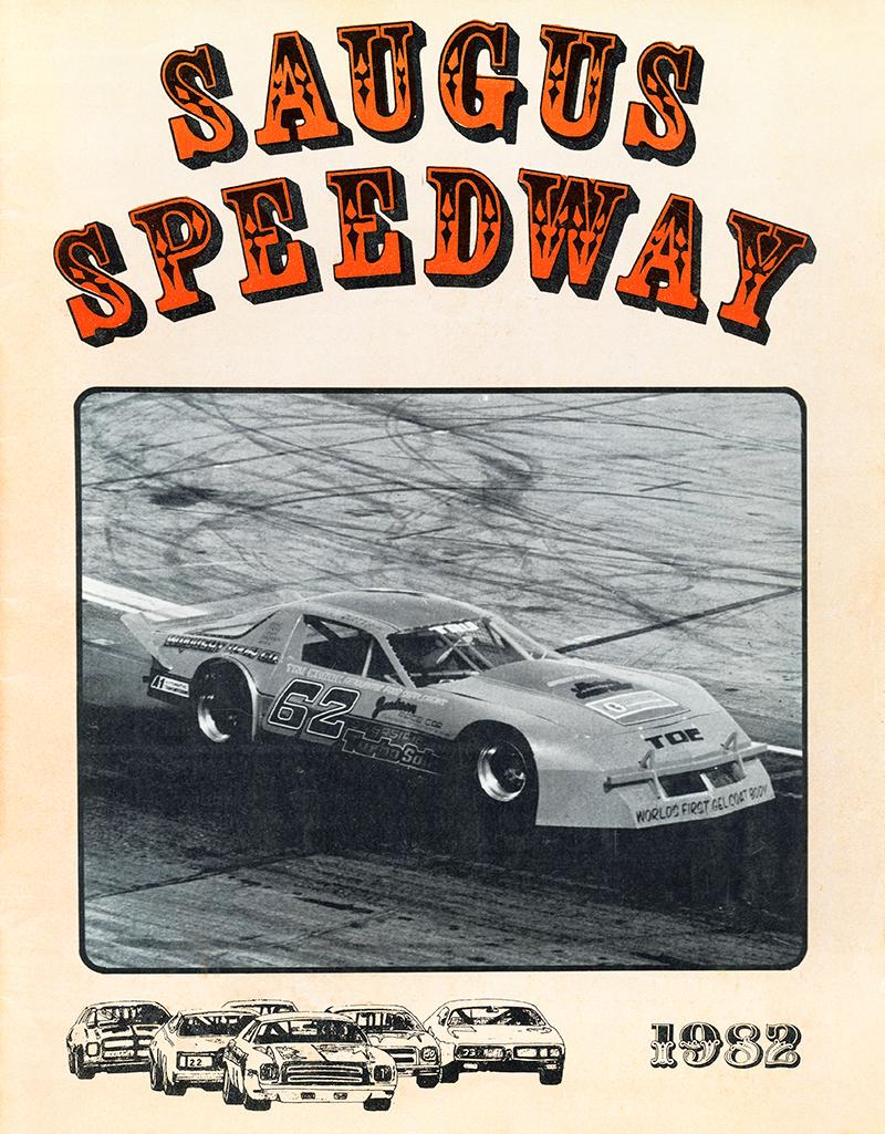 SaugusSpeedwaynet  Racing Program 5291982  Cover Tru Cheek Insolo Takes Checkered Flag