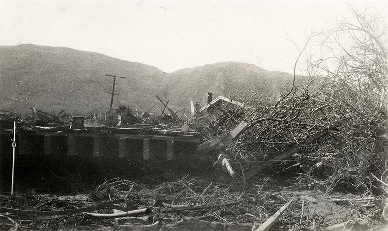 Santa Paula Damage ST. FRANCIS DAM DISASTER | EX-RUTH TEAGUE