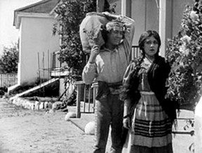 """Mary Pickford in the title role (with Henry B. Walthall  as Allesandro) in D.W. Griffith's production of """"Ramona,"""" shot over two days in 1910 at Rancho Camulos in the Santa Clara River Valley."""