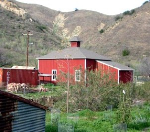 The barn at Mentryville ... which wasn't actually red until the nation's 1976 bicentennial.