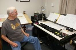 Dirk in his home studio, April 8, 2011