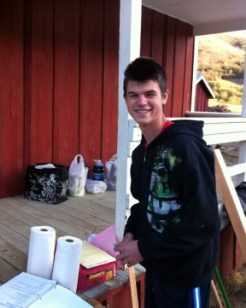 File photo: SCVi Charter School student Evan Decker spearheads a weekend cleanup project at Mentryville's Felton School.