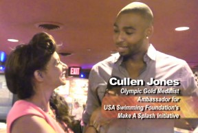 The writer interviews Olympic swimmer Cullen Jones.