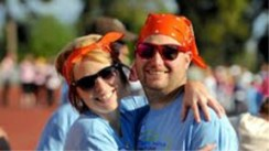 Kristen Trimble and Brandon Arndt at last year's MHF Walk/Run for Children's Cancer. The 2014 Walk/Run is set for March 15.