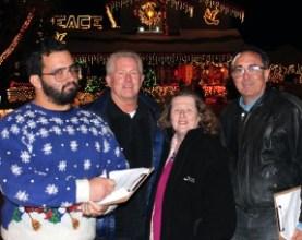 The judges: Jesse McClure, Jim Walker, Michele E. Buttelman and Carl Goldman on Ash Court in Saugus.