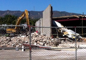 """City contractors raze the vacant buildings of the """"redevelopment block"""" in June 2012. Click image for more photos & info."""