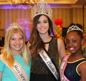 Raffle ticket sellers (from left): Junior Miss SCV Third Princess Daryn Russo, Miss SCV Kelsie Leach and Little Miss SCV Third Princess Aaniyah Smith.