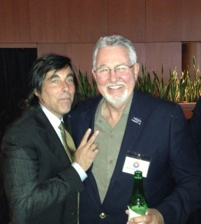 Bill Reynolds (right) with producer Scott Reda