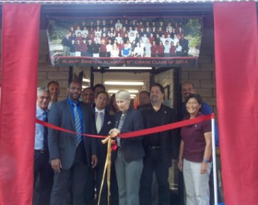 Ribbon cutting last August