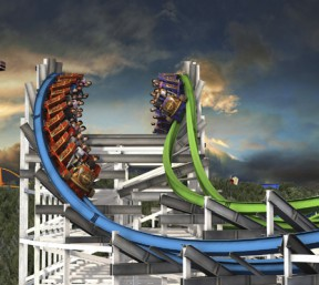 Six Flags Magic Mountain in Valencia unveiled its new twist for