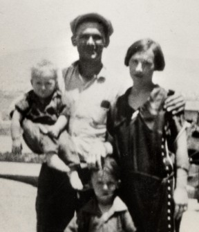 Damkeeper Tony Harnischfeger and his young son Coder (left) were among the first to perish when the dam collapsed just before midnight March 12, 1928.