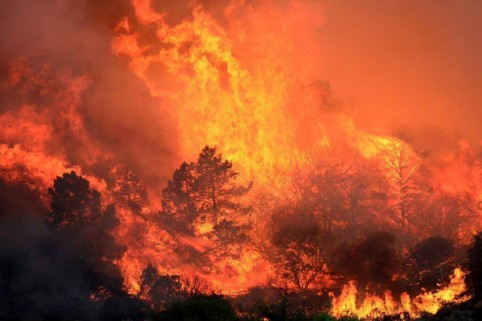 Powerhouse Fire in Lake Hughes, 6-2-2013.