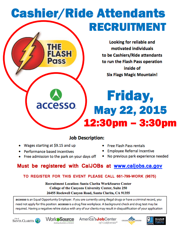 SCVNews com   Looking for Work? Six Flags Magic Mountain is Hiring
