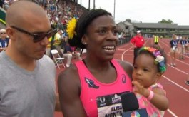 Alysia Montano interviewed by NBC Sports