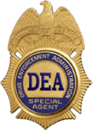 Drug Enforcement Agency badge