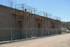 Gymnasium under construction