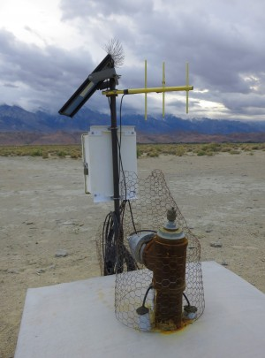 Dust monitoring equipment on Owens (Dry) Lake. Photos by Leon Worden except as noted.