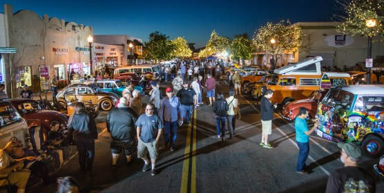 Old Town Newhall at night, Thursdays at Newhall block party