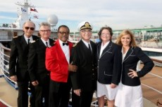 Princess Cruises celebrates their 50th Anniversary with the original cast of The Love Boat aboard Pacific Princess at the Port of Los Angeles on Thurs., Dec. 3, 2015, in San Pedro, Calif. (Photo by Casey Rodgers/Invision for Princess Cruises/AP Images)
