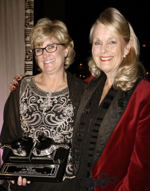 Jill Mellady (left) with COC Chancellor Dianne Van Hook