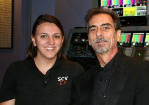 Peeples with SCVTV production maven Megan Perez.