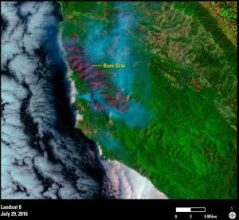 Landsat 8 California Wildfire 2