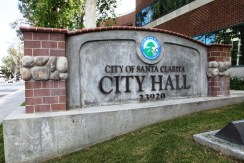 Santa Clarita City Hall monument