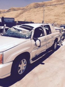 Cadillac involved in road rage crash on Highway 14