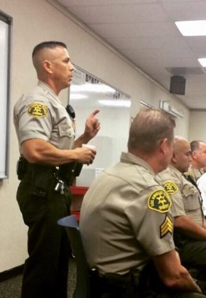 SCV Sheriff's Captain Robert Lewis at Newhall School District