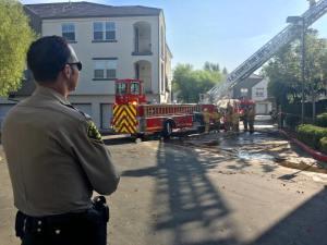 Stevenson Ranch apartment fire