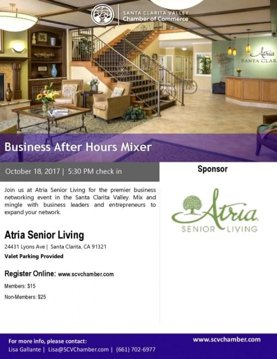 Chamber mixer flyer Atria Oct. 18, 2017