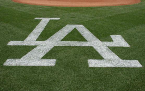 Dodger Stadium LA logo home plate | Photo: Stephen K. Peeples