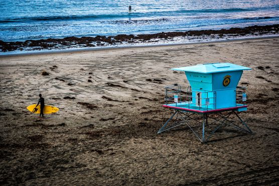 Lifeguard station at a Santa Cruz beach. | Photo: Davide D'Amico/WMC