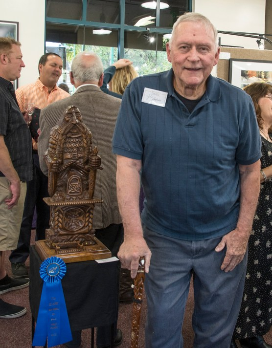 """Jim Bakman won the SCAA 2017 Gold in the Masters Division for """"The Pen is Mightier Than the Sword."""""""