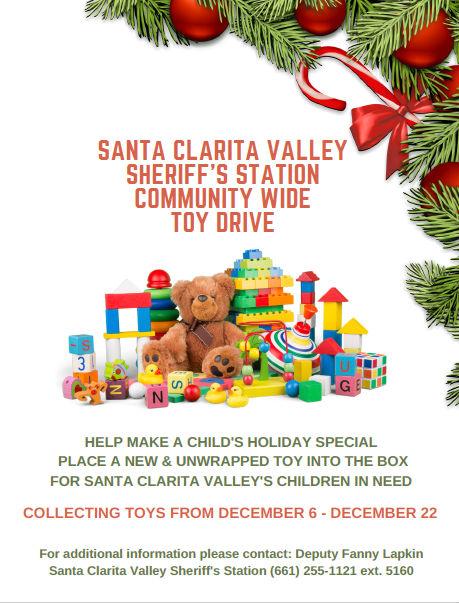 SCV Sheriff's Station Holiday Toy Drive flyer