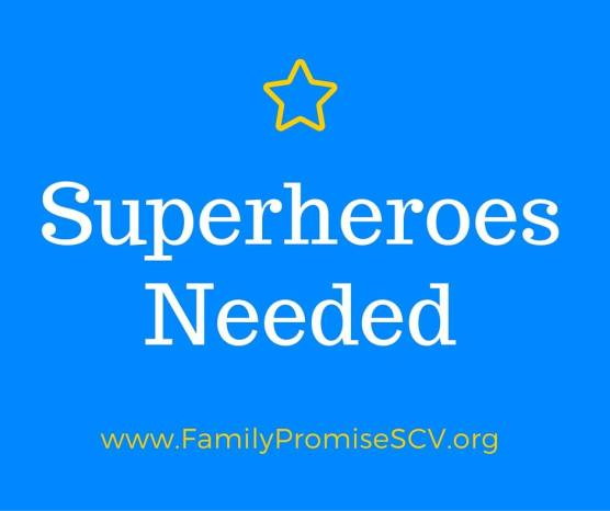 Family Promise 365 Club superheroes