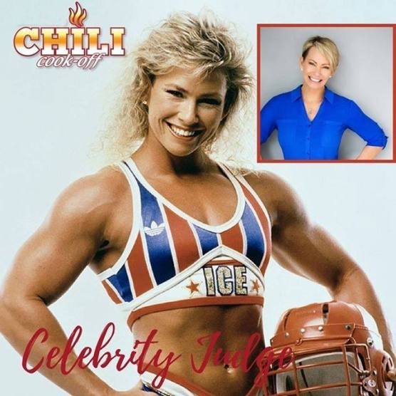 "SCV Charity Chili Cook-off judge Lori ""Ice"" Feterick, American Gladiator"
