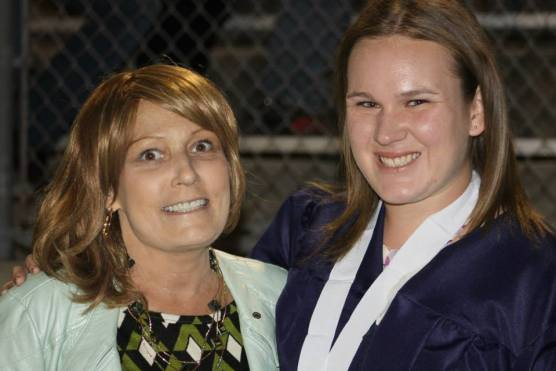 Taylor Lingscheit and her mother, Alina McLeod Carroll, are pictured at Taylor's West Ranch graduation in June 2014. (From Facebook)
