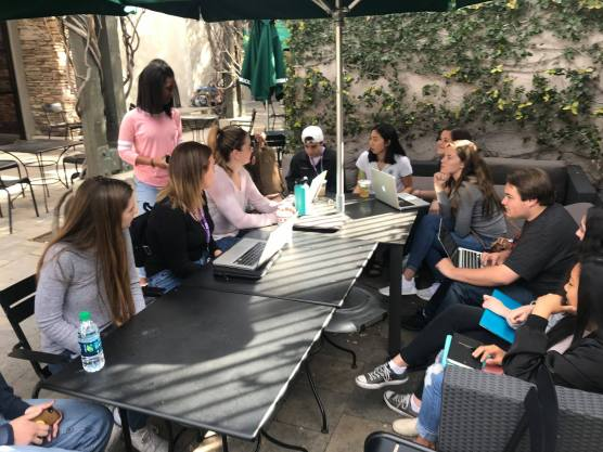"""SCV """"March for Our Lives"""" student organizers plan the March 24 rally at Marketplace Park in Valencia. Photo: From Facebook."""