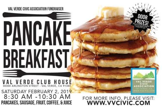Val Verde Civic Association Pancake Breakfast