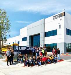 Lief Labs hosts students prepping for careers in biotech, health science and medical tech on Friday, May 17., 2019. Courtesy photo.