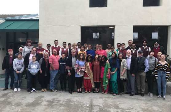 A group of students from Pinegrove School in India visited the Boys & Girls Club of the Santa Clarita Valley in January 2019.