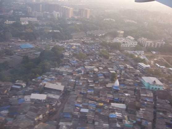 """An aerial view of the slums in Mumbai, depicted in the 2008 movie """"Slumdog Millionaire.""""