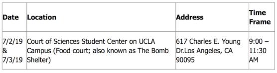 Measles Exposure UCLA