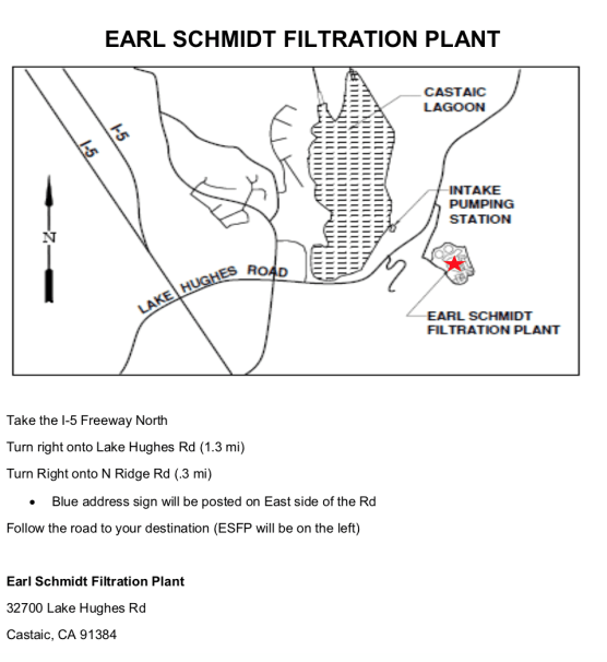 Earl Schmidt Filtration Plant map