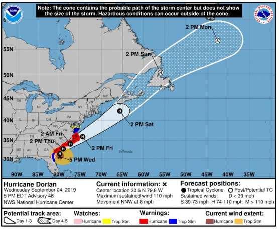 lacofd hurricane dorian deployment
